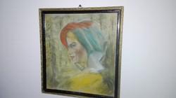 Réti István: Női portré Jelezve a képen jobbra kent: