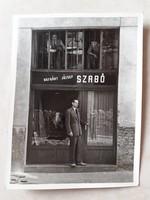 Régi fotó vintage üzletportál fénykép Hofgárt J. szabó mester boltja