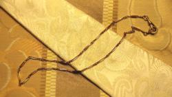 14 karátos arany zsebóralánc / nyaklánc, 1920-as évek, 11,8 g, 43,5 cm,