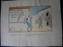 Pályi Jenõ (1900 - 1953) Kapor megnézi magát technika: papír, tus, akvarell, jjl méretek: 25 x 35