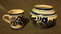 Korondi váza és bögre