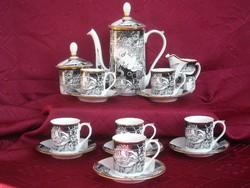 Szász Endre hollóházi porcelán kávéskészlet