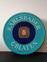 Carlsbader Oblaten régi ostyás fémdoboz