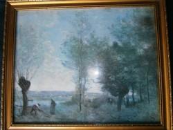 Festmény keretezve /valószínűleg olajnyomat/ Valamely híres régi kép nyomata