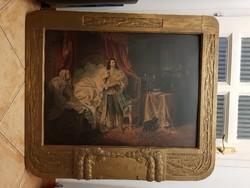 II.Rákóczi Ferenc elfogatása, százéves nyomat, vele egykorú, szép állapotú keretben