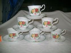 Rózsás porcelán teás készlet