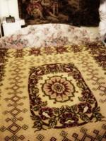 Ágytakaró franciaágyra , ágyterítő butorkárpit makett  220 x  175 cm
