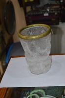 Régi rézperemes üveg szőlőmosó
