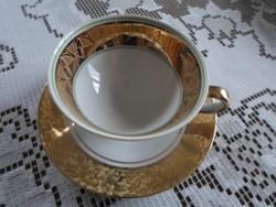 Bavaria  Kufstein kávés csésze és alj, dúsan aranyozott, az alj ragasztott