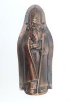 Antik télapó csokoládé forma - lemez mikulás csoki öntő forma - fele - dekorációnak