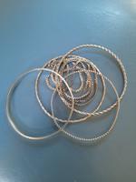 800-as ezüst 4db karkötő és nyaklánc 45 g