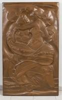 Cellini jelzéssel ellátott bronz relief