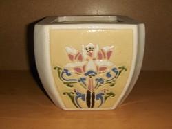 Régi porcelán virágcserép tűzzománcos (g)