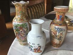Kinai vázák, 20, 22 és 17 centisek