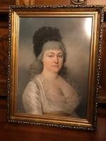 Női portré Anselm Wagner (1766-1806) 1799 pastel
