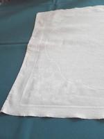 Antik, olasz damaszt törlő, monogramos,  104 x 51 cm
