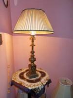 S18-27 Barokkos ,selyemernyős asztali lámpa