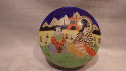 Kézzel festett Japán porcelán kerek doboz