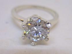 Csodás valódi 1,7ct Moissanite gyémánt ezüstgyűrű