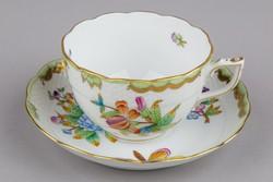 Herendi Viktória mintás nagyméretű teáscsésze aljjal II.