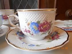 Hollóházi Hajnalka mintás teás csészék 6 db