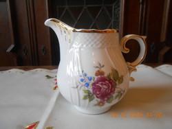 Hollóházi Hajnalka mintás tej / tejszín kiöntő, teás készlethez
