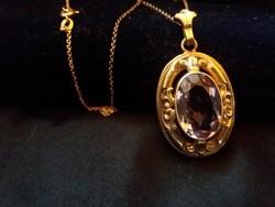 Szecessziós Antik ametiszt köves ezüst ékszer