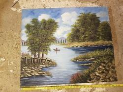 Kb.58x69 cm, vászon, olaj, szignó van