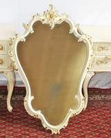 Warrings chippendél barok falitükör 90x60cm