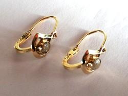 Női arany fülbevaló cirkónia kővel (14 k)