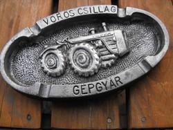 DT Dutra Vöröscsillag traktorgyár veterán traktor reklám cég hamutartó tábla Loft  gépipari loft
