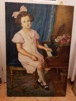 Valker Ágnes, 74,5x110 centis olajfestménye, vásznon, keret nélkül