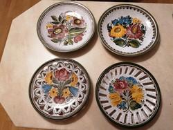 Ritka, meseszép Gmundeni (osztrák) tányérok! Kézzel festett, ritka, hibátlan darabok!