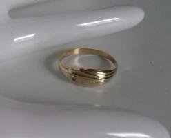 14K arany, vékony kis gyűrű 0,86g