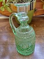 Ritkaság! Népi butélia, szakított zöld üveg gyűjtői