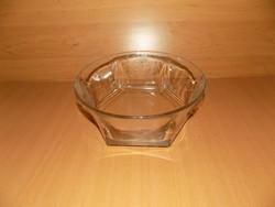 Üveg kínáló tál átmérő 22 cm (6/p)