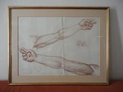 Haranghy Jenő grafikus, iparművész rajz - kar