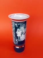 Száz Endre által tervezett Hollóházi jelzett, porcelán váza