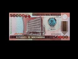 UNC - 50 000 METICAIS - MOZAMBIK - 1993 Ritkaság!