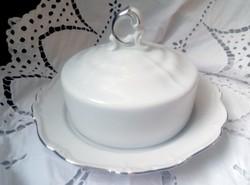 Edelstein Maria-Theresia fehér porcelán nagy vajtartó