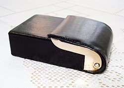 Retro bőr cigaretta tartó doboz