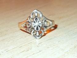 Régi Díszes mint.Tibeti ezüst ötvös gyűrű 7-es