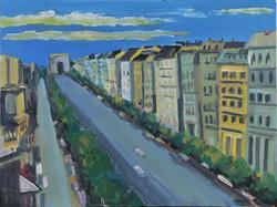 Schéner Mihály (1923-2009): Párizsi utcakép a Diadalívvel
