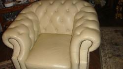 Cseszterfild  bőr fotel.