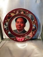 Mao Ce-tung dísztányér díszdobozban diplomáciai ajándék