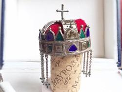 Koronázási jelvények ezüst miniatűrje