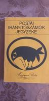 Retró, Postai irányítószámok jegyzéke 1980. Budapest-Debrecen-Győr-Miskolc-Szeged utcajegyzéke