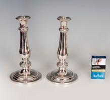 Ezüst antik bécsi gyertyatartó párban