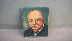 Mini Churchill festmény