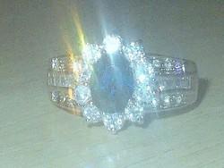Diana és Kate Eljegyzési gyűrűjének másolata! London kék Topáz Gyűrű